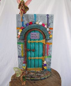 1000 images about fairy gnome doors on pinterest fairy for Painted fairy doors