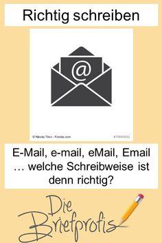 E-Mail, e-mail, eMail, Email … welche Schreibweise ist denn richtig? #rechtschreibung #büro Marketing, Coaching, Study, Words, Blog, Windows, Punctuation, Writing Styles, Grammar