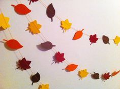 Fall Leaves / Autumn Leaves Paper Garland by SimplyScissors