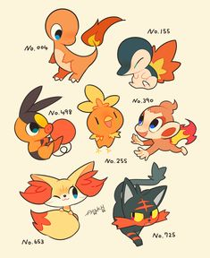 Fire type starters. Torchic and Fennekin are usually the only ones I bother picking.