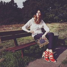 Saturday morning park vibes.  Leather footwear & bags crafted in Brooklyn  wwww.elizabethdunn.co.uk/chronicle