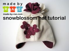 Snowblossom Hat Tutorial by Rae--very cute. Free tute and explains measurements to develop your own pattern