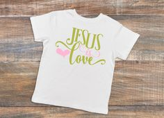 Jesus Is Love Shirt / Girl's Christian T-Shirt / Children's Bible Quote Top / Kid's Inspirational Clothing / Faith Outfit / Baptism Gift