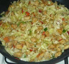 Dnes po dlhšom čase zase niečo proti  hladu...:) Názov tohto receptu som si vymyslela, u nás doma je veľmi obľúbený a my ho voláme jednod... Czech Recipes, Russian Recipes, Ethnic Recipes, Meat Recipes, Chicken Recipes, Pecan Pralines, Fried Rice, Entrees, Cabbage