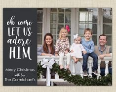 Religious Family Christmas Photo Cards by brownpaperstudios on Etsy! New Year Greeting Cards, New Year Greetings, Halloween Photos, Halloween Cards, Very Merry Christmas, Family Christmas, Address Label Stickers, Baby Shower Invitations For Boys, Christmas Photo Cards