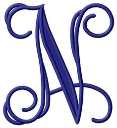 Grand Slam Designs Embroidery Design: Vining Monogram N inches H x inches W Alphabet Wallpaper, Name Wallpaper, Bridal Mehndi Designs, Henna Designs, N Letter Design, Bedroom Pop Design, Love Images With Name, Charmed Book Of Shadows, Stylish Alphabets