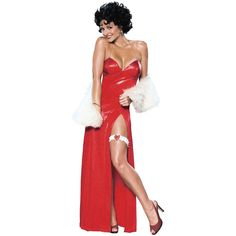 Halloween Resource Center, Inc. Betty Boop Starlet Adult Womens Sexy Long Dress Halloween Costume Std/Plus Size