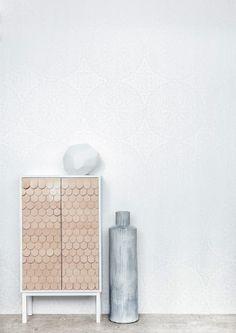 Orient Metallic Wallpaper - Eco White Light Collection - Lime Lace £38.95 #ecowhitelight #whitecollection #patternwallpaper