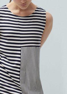 Fashion designer for Mango. SS16. Vestido fluido rayas | MANGO
