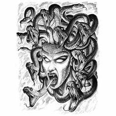 Madusa tattoo for ribs