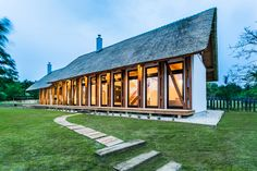 Portushome Guesthouse in Hungary Offers a Tranquil Escape: A modern rustic abode tucked in the highlands of Dörgicse. House Of The Rising Sun, Tiny House Community, Landscape Plans, Architectural Elements, Amazing Architecture, Modern Rustic, New Homes, Studios, Cottage