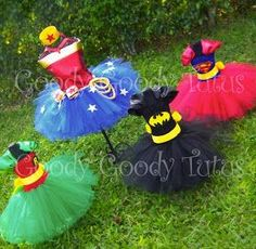 Superhero tutu dresses ~ $55.00  I'm really in love with these costumes<3