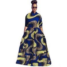 Party Kleider 2016 Plus Size Afrikanischen Druck Nationalen Herbst Kleid kleidung Frauen Top Und Langes Kleid 2 Stück Set Casual kleidung