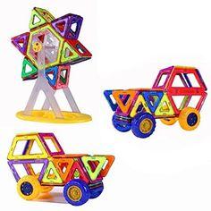 $43.50 ---- Magnetic Building Blocks Toys 74 Piece Similar Building Toys Playing Magnetic Toy Bricks