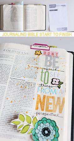 Oh my goodness.. what an AWESOME idea!!! Journaling Bible Start To Finish by Shanna Noel