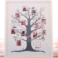 Although I'm not great at printing pictures I think this is a lovely way to share your family tree with your little ones.