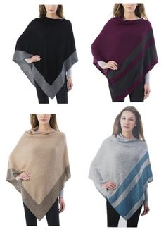 **Great Gift Alert**  Only $17.95 + Ships Free!  Celeste Ladies' Cashmere Blend Poncho Sweater  6 Colors!  Gift It: http://ebay.to/2zyKCEw  #ad