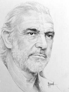 Pencil Portrait Mastery - Sean Connery...pencil drawing by Greg Hand .Commission a drawing from your photo - Discover The Secrets Of Drawing Realistic Pencil Portraits