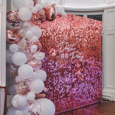 Feb 2020 - add some sparkle to your event, wedding, baby shower or corporate event with one of our sequin walls. we have gold, rose gold and silver plus a pimp my backdrop service where you can add balloons and bespoke signage. Sequin Wall, Sequin Backdrop, Balloon Backdrop, Balloon Wall, Pink Backdrop, Balloon Columns, 21st Bday Ideas, Birthday Balloon Decorations, Birthday Backdrop
