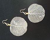 Leaf Earrings - silver