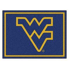 West Virginia Mountaineers NCAA 8ft x10ft Area Rug