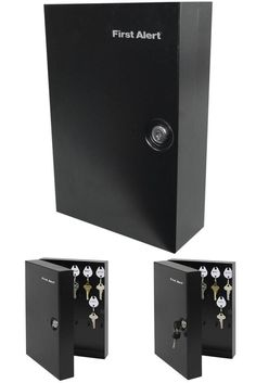 Key Lock Box Organizer Cabinet Steel Security Safe Storage Holder Black Metal