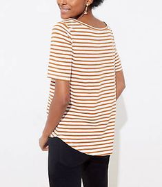 Striped Vintage Soft Shirttail Tee | LOFT Vintage Soft, Cotton Tee, Loft, Tees, Women, Fashion, Moda, T Shirts, Women's