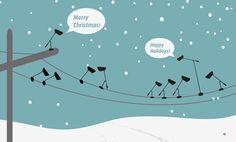 Northern Lighting christmas card