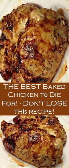 Amazing Baked Chicken to Die For!-Amazing Baked Chicken to Die For! Here's Amazing Baked Chicken to Die For! Recipes >> Baked Chicken with Garlic and Brown Sugar >> - Easy Baked Chicken, Baked Chicken Breast, Easy Chicken Recipes, Chicken Breasts, Good Baked Chicken Recipes, Crockpot Boneless Chicken Recipes, Chicken Breats Recipes, Seafood Recipes, Different Chicken Recipes