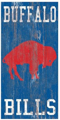For every die-hard Buffalo Bills fan, this heritage wall sign is truly a masterpiece.