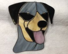 Catahoula Leopard Dog Stained Glass