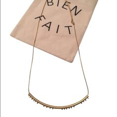 Madewell Adjustable Necklace-NWT Go long or go short! Madewell adjustable necklace- pull on either side of the sliders on the necklace chain to make long or short- actual necklace shown in 2nd and 3rd photo. Fair offers considered thank you for looking! Madewell Jewelry Necklaces