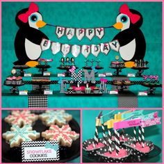 a penguin-themed second birthday