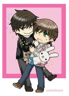 Onodera Ritsu x Takano Masamune / Sekaiichi Hatsukoi Junjou, Chibi Boy, Love Stage, Nisekoi, Manga, Anime Guys, Hot Anime, Shounen Ai, Anime Ships