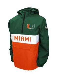 NCAA Miami Hurricanes Adult Women Hooded Low Key Pullover Top Vintage Medium