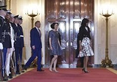 Pin for Later: Michelle Obama Just Wore the Quintessential Spring Dress