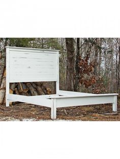 Country Farm Furniture, Country Farm Horizontal Plank Bed, Queen, Low  Profile Footboard,