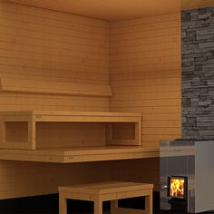The new Harvia 22 Steel wood-burning sauna stove is a chameleon. Its outer casing made of steel reflects environment around itself. It's the perfect chose for every sauna.