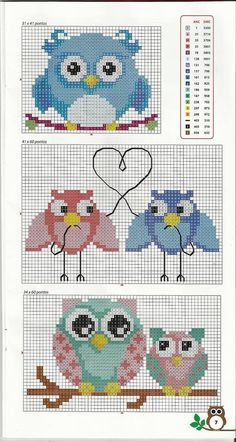 owl pattern cross stitch by Mudgey Cross Stitch Owl, Cross Stitch Animals, Cross Stitch Charts, Cross Stitch Designs, Cross Stitching, Cross Stitch Embroidery, Cross Stitch Patterns, Owl Patterns, Beading Patterns