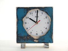 vintage blue clock