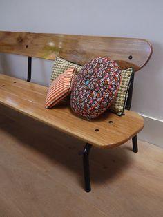 banc d 39 colier vintage en ch ne coli re bancs et entr e. Black Bedroom Furniture Sets. Home Design Ideas