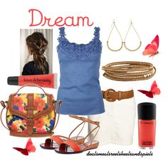 """""""cobalt blue & coral"""" by enjoytheview on Polyvore"""