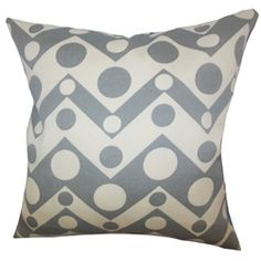 """Comfy and casual, this accent pillow adds a visually appealing detail to your living space. This home accessory features a combination of geometric pattern in shades of grey and white. This indoor pillow goes well with solids and other patterns. Place this 18"""" pillow anywhere inside your home where it needs styling. $55.00  #grayandwhite  #throwpillow  #homedecor  #interiorstyling"""