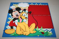 Mickey and Pluto 12 x 12 Double Page by PaperCraftsByViolet
