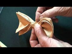 Making a Clip On Bow Tie - YouTube