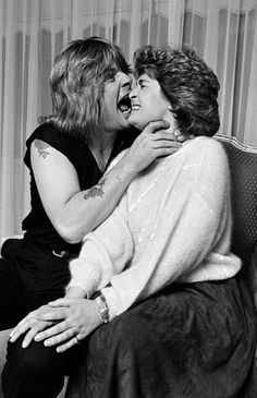 Ozzy and Sharon Osbourne, 1982 He looks young and she looks old!