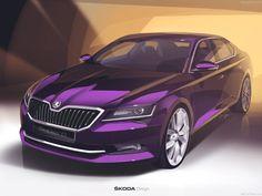 New Skoda Superb Design Sketch Car Design Sketch, Car Sketch, Automobile, Car Illustration, Illustrations, Jeremy Clarkson, Motorcycle Design, Car Drawings, Transportation Design