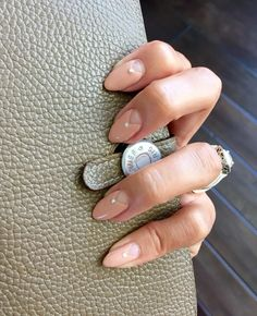 Negative Space Nude Nails