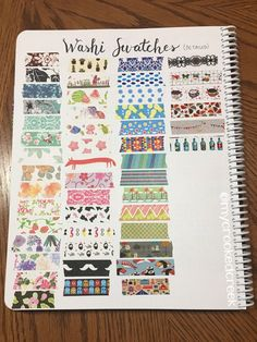 Fun Washi Tape Swatch Page in my Bullet Journal Bullet Journal Ideas Pages, My Journal, Bullet Journal Inspiration, Journal Notebook, Bujo, Bullet Journal Washi Tape, Washi Tape Crafts, Washi Tape Storage, Washi Tape Planner