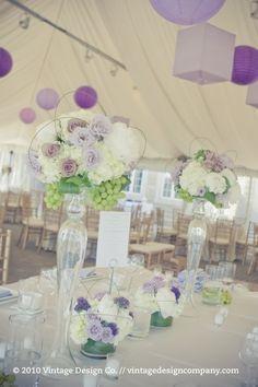 Niagara on the Lake wedding reception in gold and purple